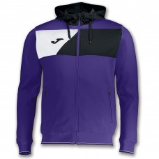 CREW II HOODED FZ POLY JACKET (PURPLE-BLACK-WHITE)